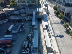 Bellevue Downtown Station, view four (East Link aerial tour)