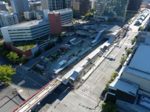 Bellevue Downtown Station, view three (East Link aerial tour)