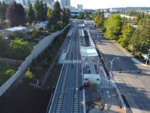 East Main Station, view three (East Link aerial tour)