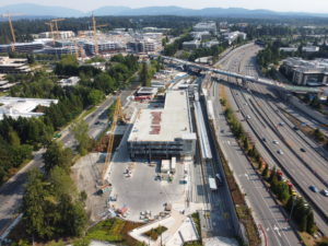 Redmond Technology Station view one (East Link aerial tour)