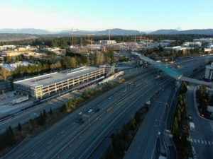 Redmond Technology Station view three (East Link aerial tour)