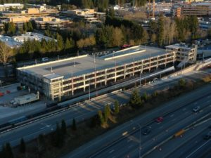 Redmond Technology Station view four (East Link aerial tour)
