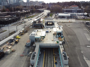 Spring District/120th Station view two (East Link aerial tour)