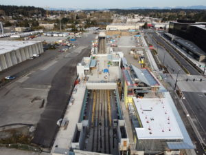 Spring District/120th Station view three (East Link aerial tour)