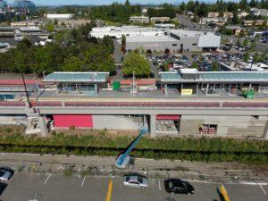 Wilburton Station, view three (East Link aerial tour)