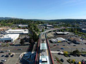 Wilburton Station, view four (East Link aerial tour)